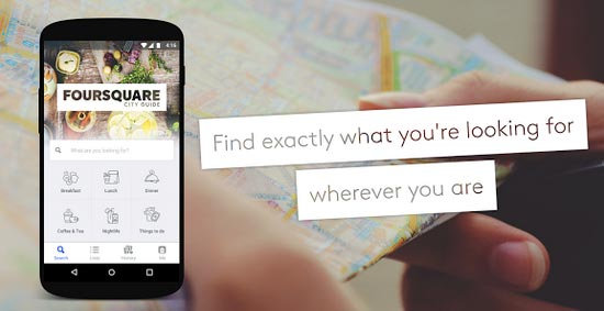 aplicatii travel Foursquare