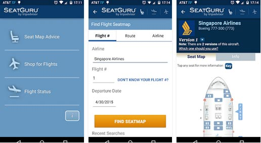 aplicatii travel SeatGuru