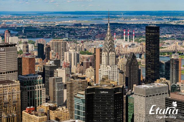 Panorama New York de pe Empire State Building