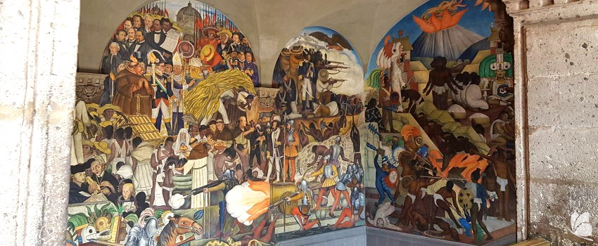 Palatul National, picturile lui Diego Riviera