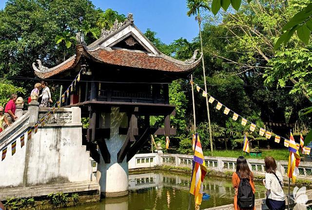 Pagoda pe un pilon